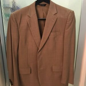 Jos A. Banks Traveler Mens Tan Wool Blazer